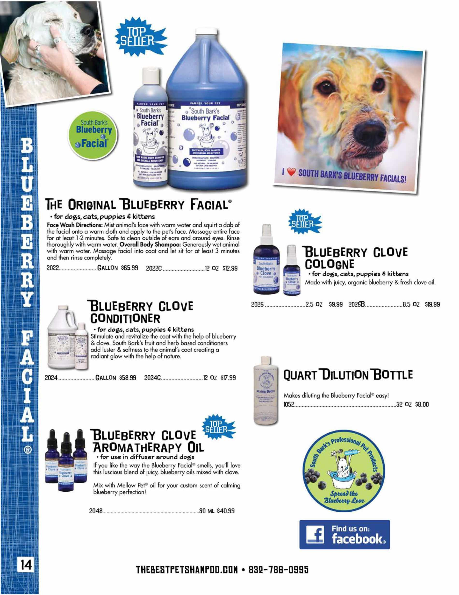 Blueberry Facial Dog Shampoo